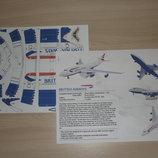 Модель самолета Боинг 747 из бумаги