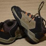 Коричневые комбинированные фирменные ботинки Adidas Германия 25 р.