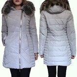 Распродажа Зимних Пуховиков Пальто Qarlevar с натуральным Мехом