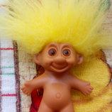 Тролль троль троллик тролик trolls винтажная кукла эльф чудик гном.