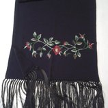 Шарф шаль Этно с вышивкой черный 250 шарфов и платков на странице