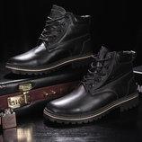 Ботинки Yuves Clarks из натуральной кожи на меху, код gavk-444W-M1