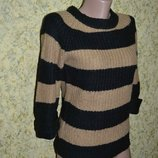 Свитер XS/S, женский свитер, свитер, свитер в полоску, деловой свитер, пуловер, худи, свитшот, кофта