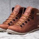 Ботинки кожаные зимние CAT Rider Nubuck рыжие