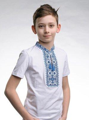 Футболка вышиванка для мальчика. вишиванка для хлопчика, р-р 92-152