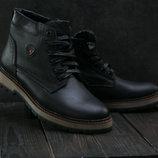 Ботинки Ecco из натуральной кожи на меху, код gavk-B27W-M1