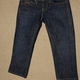Темно-Синие узкие х/б джинсовые бриджи G-Star Raw Голландия 26 р.