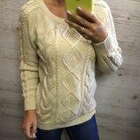 Тёплый вязаный свитер размер M-L