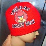 Стильная фирменная зимняя шапочка шапка бренд . Angry Birds.10-16 лет
