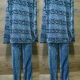 Пижама махровая мужская тёплая, Костюм домашний махровый, махра двусторон р.42-44-46-48-50-52-54-56