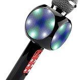 Беспроводной микрофон караоке с динамиком и цветомузыкой Wster ws-1816, black