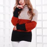 Свитер 145 вязаный удлиненный свитер