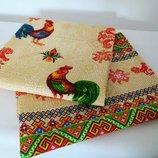 Набор красивых полотенец из хлопка в национальном стиле