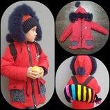Стильная детская зимняя курточка 3-5
