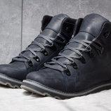 Ботинки кожаные зимние CAT Rider Nubuck синие