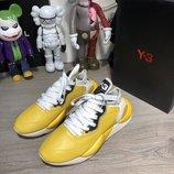 Кроссовки кожа Adidas Y-3 Kaiwa Sneakers Yellow/White