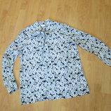 Блузка шифоновая, рубашка ромашки Warehouse