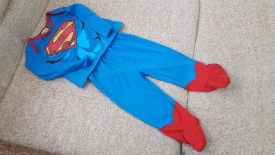 Фирменный костюм Супермена 12-24Мес