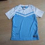 футболка голубая детская 8-10 л Nike Найк спортивная