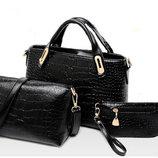 Женская сумка набор 3в1,- 3 цвета