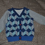 новый свитер George мальчику рост 68 на 3-6 мес Англия