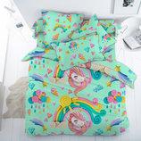 Единороги Арт, постельное белье для девочек поплин, 100% хлопок