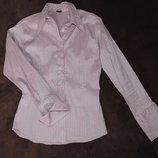 Блуза жемчужно-розовая рубашка