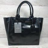 Женская кожаная черная сумка жіноча шкіряна сумка чорна