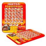 Детский планшет Маквин,планшет тачки,алфавит,алфавіт,азбука,абетка