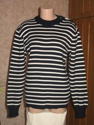 вязанный свитер джемпер в полоску