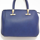 Деловая женская сумка синего цвета