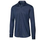 Рубашка из мерсеризованного хлопка синяя от дизайнера Steffen Schraut Германия