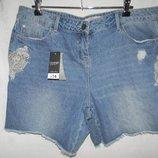 Новые джинсовые шорты с вышивкой george 16р