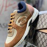 Женские замшевые кроссовки Chanel