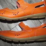 Суперкомфортные кожаные туфли балетки Annabelle р.5 стелька 24 см