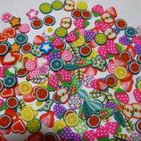 3Д фигурки для рукоделия, заколок, декора, маникюра, скрапбукинга,подделок фрукты листики сердечки