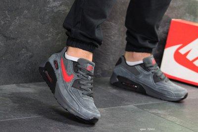 Кроссовки мужские Nike Air Max gray/red 41-45