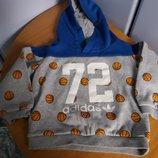 Adidas оригинал утепленная кофта 12-18 месяцев