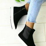 Женские ботинки 36-41р.Натуральная замша