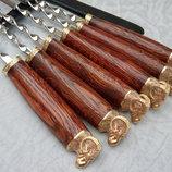 Шампура Золотое руно набор 6шт в кожаном колчане