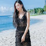 Ажурная туника пляжный сарафан платье три цвета