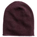 Кашемировая шапка H&M PREMIUM QUALITY кашемир фиолетовый