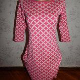 платье плотный трикотаж, стильное, модное р6