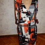 платье вискозное стильное, модное р12