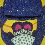 Блестящая шапочка рукавички в подарок