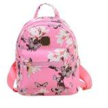 Модный розовый рюкзак с цветами, бабочками