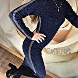 Платье-Гольф из ангоры с ломпасами