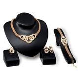 8 Шикарный набор украшений с цирконами. Колье, браслет, серьги и кольцо одним лотом.