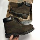 Коричневые мужские зимние ботинки timberland разные размеры в наличии