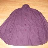 Пальто демисезонное, накидка, пончо, 50-56 разм 50% шерсть